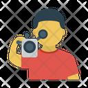 Cameraman News Recording Icon