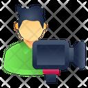 Cameraman Camera Operator Cinematographer Icon