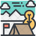 Camp Camping Summer Icon