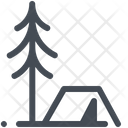 Camp Camping Christmas Tree Icon