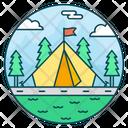 Camp Campsite Landscape Icon