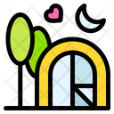 Camp Night Heart Icon
