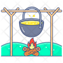 Camp Cooking Pot Icon