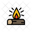 Camp Fire Fire Fire Flame Icon