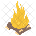 Camp Fire Burning Wood Firewood Icon