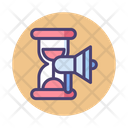 Campaign Timing Target Marketing Timing Of Advertising Icon