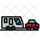 Camper Caravan Car Transportation Icon