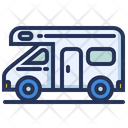 Camper Trailer Van Icon