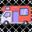 Vehicle Camper Van Travel Bus Icon