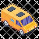 Road Journey Minibus Camper Van Icon