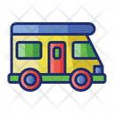 Campervan Surf Surfboard Icon