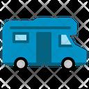 Campervan Transport Vehicle Travel Caravan Vacation Holiday Icon