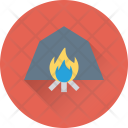Campfire Camping Flames Icon