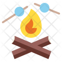 Campfire Camping Fireworks Icon