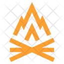 Fire Camping Adventure Icon