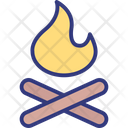 Burn Camp Fire Icon