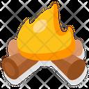Campfire Bonfire Camping Icon
