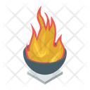 Campfire Burning Wood Firewood Icon