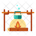 Campfire Fireplace Hiking Icon