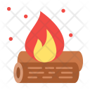 Campfire Camping Fire Icon