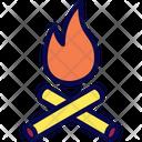 Campfire Burn Heat Icon