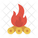 Campfire Wood Burn Icon