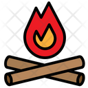 Wood Fire Flame Icon