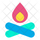 Camp Camping Fire Icon