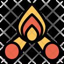 Bonfire Camping Travel Icon