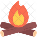Firewood Fire Bonfire Icon