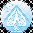 Fireplace Firelamp Bonfire Icon