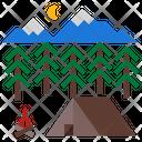 Campfire Fire Camp Icon