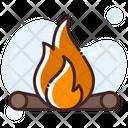 Campfire Camping Campsite Icon