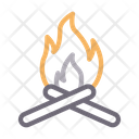 Campfire Bonfire Burn Icon