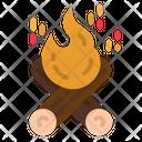 Campfire Bonfire Outdoors Icon
