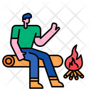 Campfire Fire Burn Icon