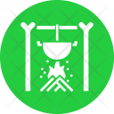 Campfire Wood Fire Icon