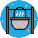 Campfire Grilled Barbecue Icon