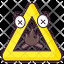 Campfire Sign Campfire Symbol Bonfire Sign Icon