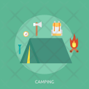Camping Holiday Recreation Icon
