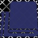 Camping Floor Mat Folded Mat Icon
