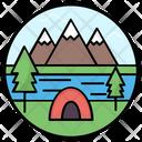 Tent Camp Hut Icon