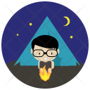 Camping Night Travel Icon