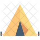 Tent House Beach Icon