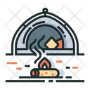 Camping Bone Fire Icon