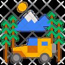 Camper Outline Transport Icon
