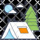Camping Campsite Landscape Icon