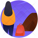 Camping Hiking Person Camping Icon