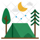 Camping Holidays Rural Icon