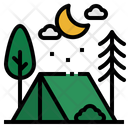 Camping Holidays Rural Icon